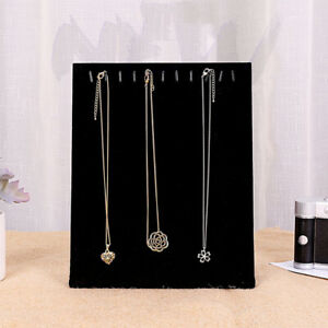 Velvet Necklace Chain Jewelry Display Holder Bracelet Organizer Stand Rack D