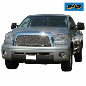 Eag Chrome Mesh Grille W Shell Fit 2007 2009 Toyota Tundra