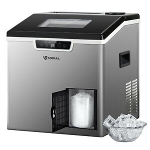 Anbull Ice Maker Machine Countertop Ice Shaver 2 in 1 Self clean 44lbs 24h 32pcs