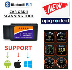 Bluetooth Obd2 Car Scanner Code Reader Obdii Elm327 Diagnosis For Ios Android
