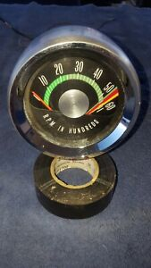 1965 66 67 68 69 Oldsmobile 442 Oem Console Factory Tachometer Excellent Cond