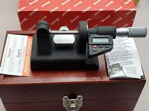 Starrett No 777 0 1 Electronic Digital Bench Outside Micrometer Spc Output