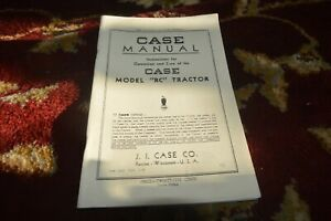 Case Rc Tractor Operator s Manual Lhpa