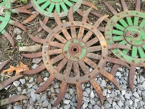 Vintage last One Tiller Head Cultivator Rotary Hoe Wheel Farm Equipment