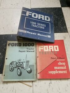 Ford 1000 Tractor Select o speed Transmisson Shop Repair Manual Supplement