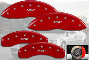 2012 2018 Audi A7 Quattro Front Rear Red Engrave Mgp Brake Disc Caliper Covers