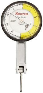 Starrett Dial Test Indicator No 708 Dovetail Mount 0 0 02 0 0001 0 5 0 Dial