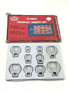 King Machinery 3 8 Drive Crowfoot Sae Wrench Set 3 8 1 5 16 inch 10 Pieces
