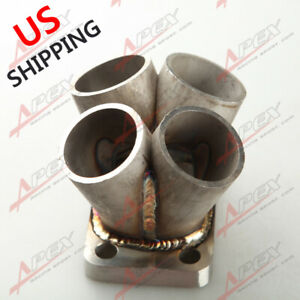 Stainless Steel 4 Cylinder Manifold Header Merge Collector T3 T3 T4 Turbo Flange