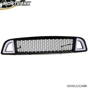 For 2013 2014 Ford Mustang Gt base Led Drl Signal Front Bumper Honeycomb Grille