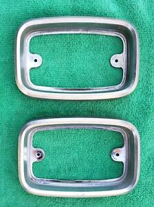 1973 1974 Amc Javelin Amx Grille Turn Signal Housing Bezel Pair Part 3665268