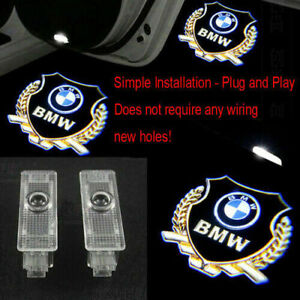 2pc Car Door Led Light Logo Projector Welcome Symbol Emblem Ghost Shadow For Bmw
