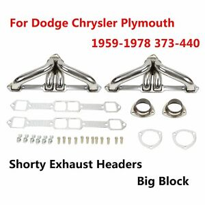 For 59 78 Chrysler dodge plymouth Mopar383 440 V8 Racing Header Manifold exhaust