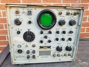 Vintage An usm 24c Military Oscilloscope Navy Os 51 Parts Or Repair