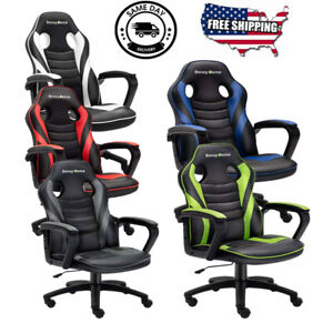 Racing High Back Gaming Chair Swivel Style Recliner Computer Office Desk Seat