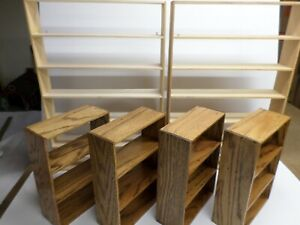 Collector s Store Display Shelves Lot Of Six 6 Handcrafted Solid Wood