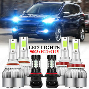 For Ford Escape 2013 2014 2016 6pc 8000k Led Headlight Fog Light Bulbs Kit