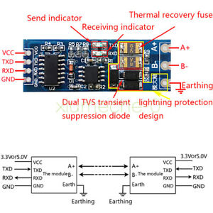 Signal Ttl To Rs485 Converter 485 Serial Port Uart Level Automatic Flow Control