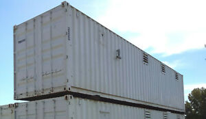 40 Ft Container Shop Climate Controlled Office Inventory Storage W Racking