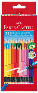 Faber castell Erasable Colouring Pencils Assorted Colours pack Of 24