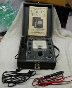 Vintage Accurate Instrument Co Utilty Tester Model 161 W Manual Nice