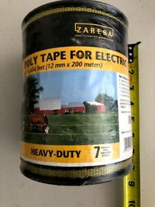 Zareba Poly Tape For Electric Fence Fencing New 656 Feet Hd 7 Conduc Strands