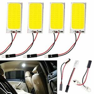 Everbright 4 pack Super White Cob 36 smd Led Panel Dome Lamp Auto Car Interio