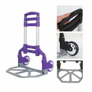 Ktaxon Folding Trolley Luggage Dolly Cart Height Adjustable Aluminum Collapsible