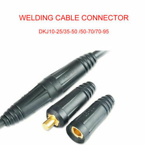 Male Female Copper Cable Connector Welder Quick Fitting Socket Plug Welding Tool