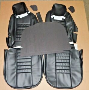 New Vinyl Seat Covers Upholstery Mgb 1969 Only Made In Uk Black W Black Piping