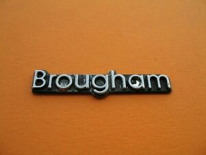 Oldsmobile Buick Cadillac Chevy Brougham Emblem Logo Badge Sign Oem Used A15655