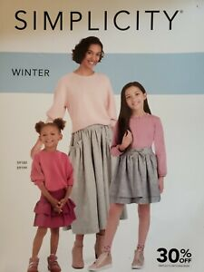 Simplicity Sewing Pattern Desk Counter Sales Catalog Winter 2020