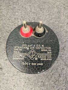 General Radio 1401 a Standard Air Capacitor 100 Uuf 0 2 i1856