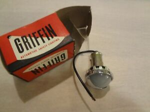 Griffin Lamp Company Automotive Safety Light License Plate Trailer Hot Rod Nos