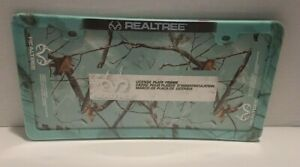 Realtree License Plate Frame Mint Camouflage Design New