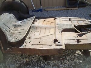 1950 Mercury Floor Trunk Wheel Well Section Coupe 1949 1951 Chop Top Sled