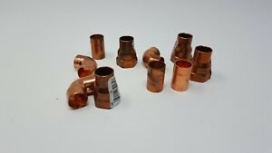 Lot Of 10 Copper Plumbing Parts Fittings Elbow