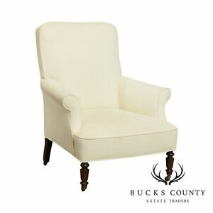 Antique English Regency Style Library Armchair