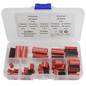 Double Row Dip Switch Assorted Kit Box Range 1 2 3 4 6 8 10 Position 2 54mm P