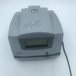 Pyramid Technologies Model 3500 Time Clock no Power As Is For Parts no Keys
