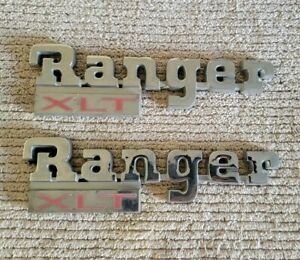 1983 1988 Ford Ranger Xlt Side Fender Emblem Badge Logo Oem Pair