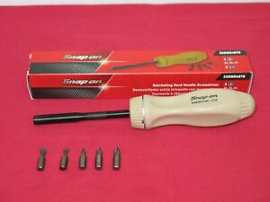 Snap On Tools Latest Design Tan With Black Shank Ratcheting Screwdriver