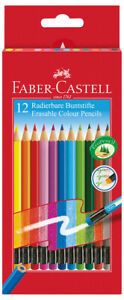 Faber castell Erasable Colouring Pencils Assorted Colours pack Of 12