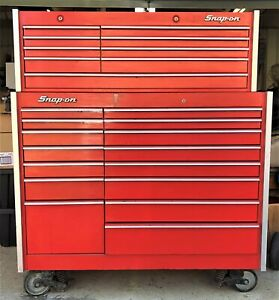 Snap On Tools Kr 1000 Kr1100 53 Wide Top And Bottom Tool Chest 24 Drawers