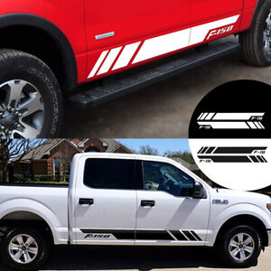 2pcs For Ford F150 F 150 Stylish Car Door Side Skirt Stickers Vinyl Body Decals