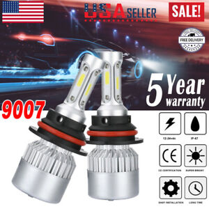 9007 Hb5 Led Headlight Bulbs Conversion Kit High Low Beam Bulb Super White 6500k