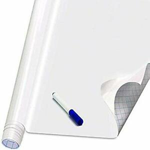 Self Adhesive White Board Paper Dry Erase Wall Stickers Roll 17 7 X 78 7