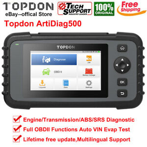Topdon Ad500 Crp123e Car Obd2 Diagnostic Scanner Tcm Abs Srs Engine Code Reader