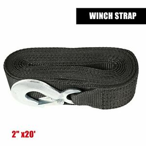 Deluxe Boat Trailer Replacement Winch Strap 2 X20 10000lb With Snap Hook Quick