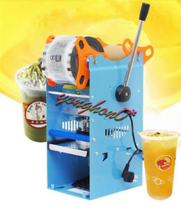 220v Wy 802d 270w Semi automatic Tea Cup Sealer Sealing Machine 300cups h New